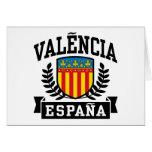 Valencia Espana Tarjetón
