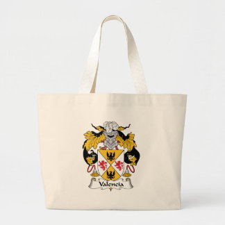 Valencia Family Crest Large Tote Bag