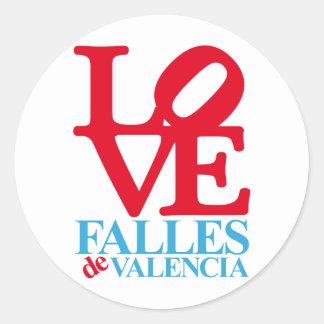VALENCIA FAULTS SOUVENIR CLASSIC ROUND STICKER