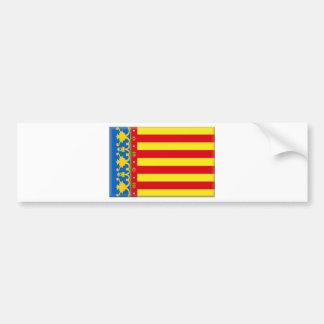 Valencia Flag Car Bumper Sticker