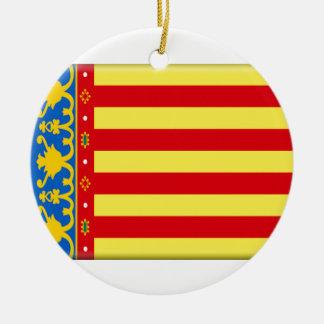 Valencia Flag Ceramic Ornament