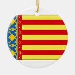 Valencia Flag Christmas Tree Ornament
