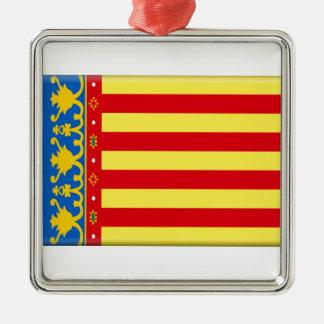 Valencia Flag Metal Ornament