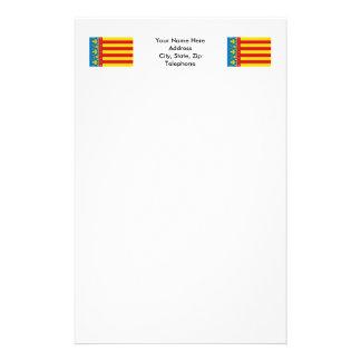 Valencia flag stationery