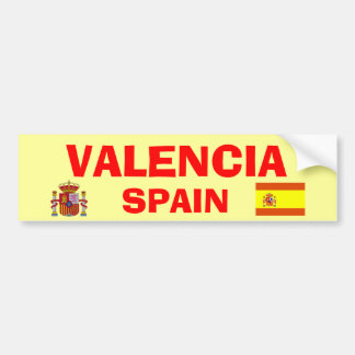 Valencia* Spain Bumper Sticker