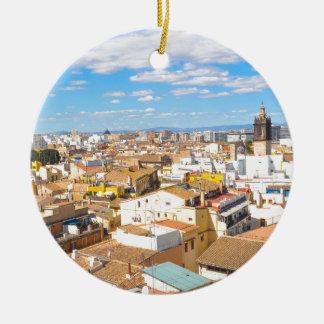 Valencia, Spain Ceramic Ornament
