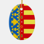 Valencia (Spain) Flag Christmas Ornament