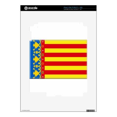 Valencia (Spain) Flag Skin For iPad 2