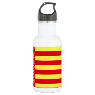 Valencia (Spain) Flag Water Bottle