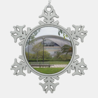 Valencia, Spain Snowflake Pewter Christmas Ornament