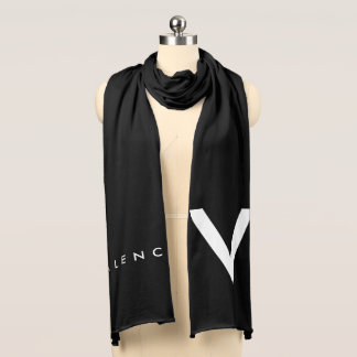 """Valencia """"V"""" Scarf White/White"""