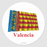 Valencia waving flag with name stickers