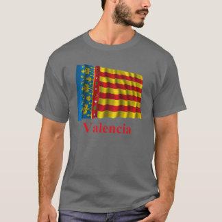 Valencia waving flag with name T-Shirt