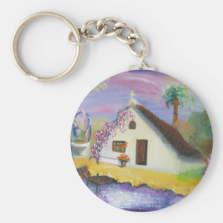 Valencian cabin. Impressionist picture Keychains
