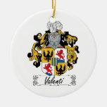 Valenti Family Crest Christmas Tree Ornaments