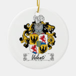 Valenti Family Crest Double-Sided Ceramic Round Christmas Ornament
