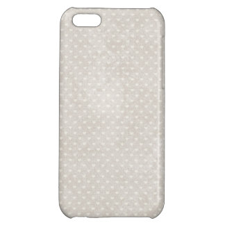 Valentie Heart Pattern White Hearts Cover For iPhone 5C