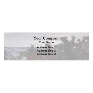 Valentin Serov- Catherine II Setting out to Hunt Business Card Template
