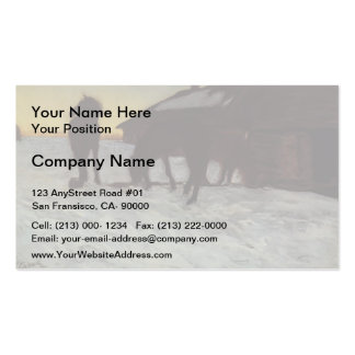 Valentin Serov-Colts at Watering Place.Domotcanovo Business Card Templates