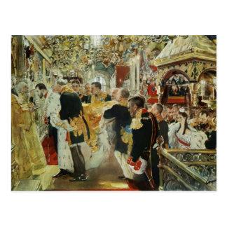 Valentin Serov- Coronation of the Emperor Postcards