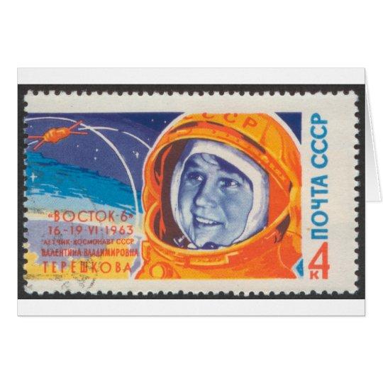 Valentina Vladimirovna 1st Woman in Space Card