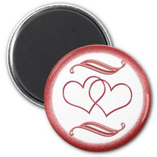 Valentine #1 2 inch round magnet