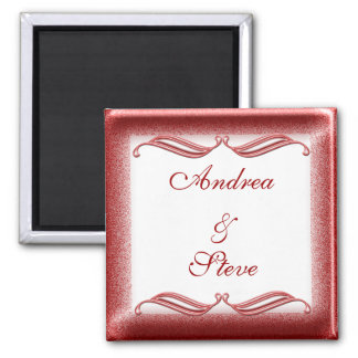 Valentine #1 2 inch square magnet