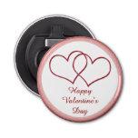 Valentine #1 button bottle opener