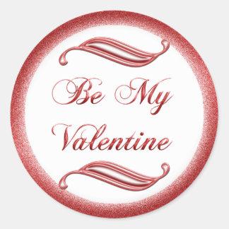 Valentine #1 classic round sticker