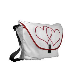 Valentine #1 messenger bag