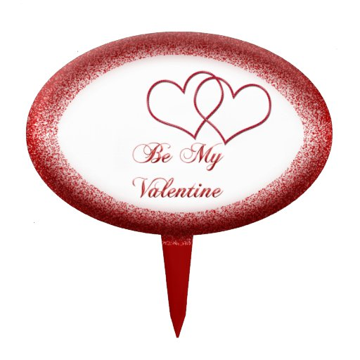 Valentine #1 oval cake toppers