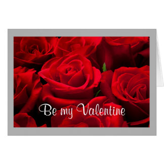 Valentine 25 Classic red roses Card