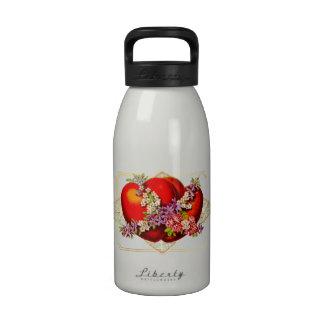 Valentine-2 red hearts-Victorian - Water Bottle