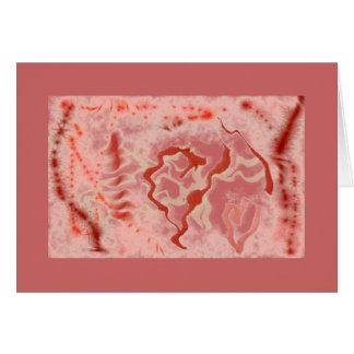 valentine abstract art heart card