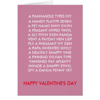 Valentine Anagrams card