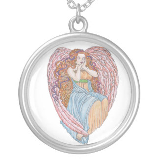 Valentine Angel Silver Plated Necklace