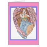 Valentine Angel with purple border Card