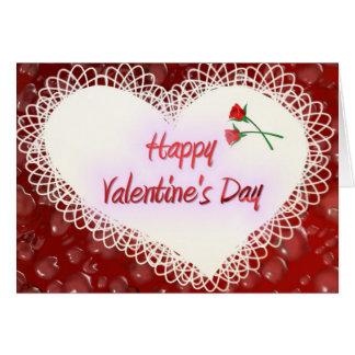 Valentine&apos feliz; día de s tarjeta de felicitación