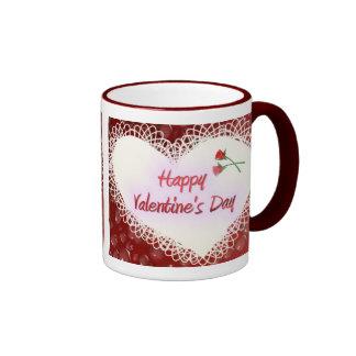 Valentine&apos feliz; día de s taza de dos colores