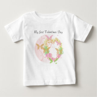 Valentine Apparel with Flowers & Butterflies Baby T-Shirt