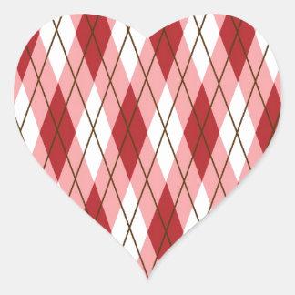 Valentine Argyle Heart Sticker
