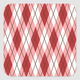 Valentine Argyle Square Sticker