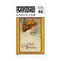 Valentine Art Schmucker Auburn Girl Postage