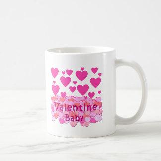 Valentine Baby Pink Hearts Coffee Mug