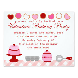 Valentine Baking Party Card