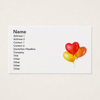 Valentine Balloons (1), Name, Address 1, Addres... Business Card