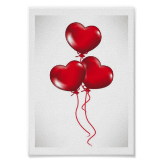 Valentine Balloons (3) Poster