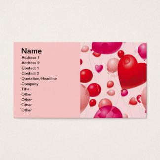 Valentine Balloons (4), Name, Address 1, Addres... Business Card
