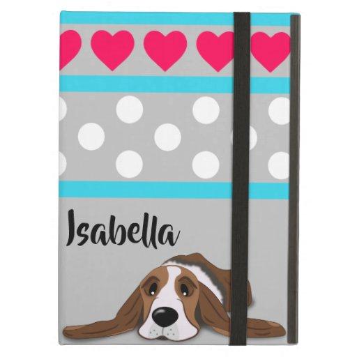 Valentine Basset Hound Case For iPad Air