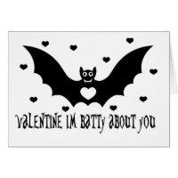 Valentine Bat Love Card